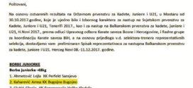 Poziv na Balkansko prvenstvo